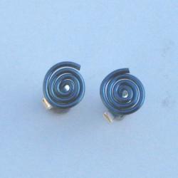 Niobium Spiral Studs Blue £10.00