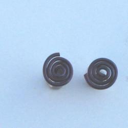 Niobium Spiral Studs Brown £10.00