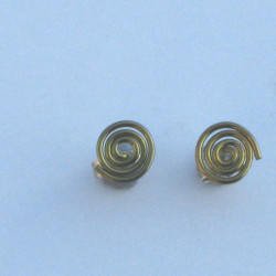 Niobium Spiral Studs Gold £10.00