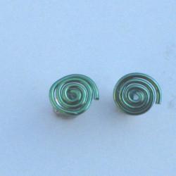 Niobium Spiral Studs Green £10.00