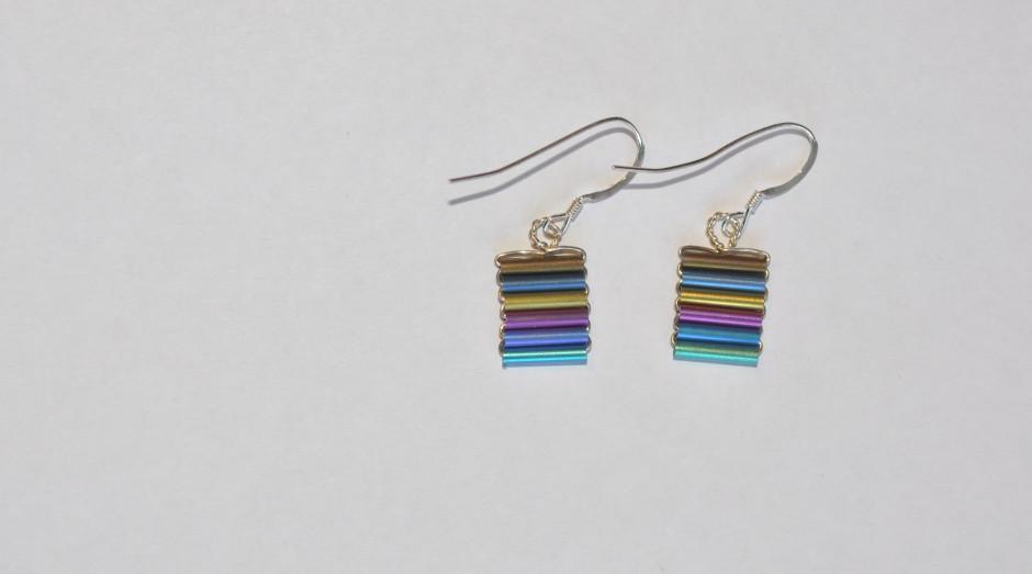 Niobium Tube Earrings