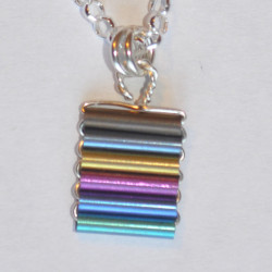 Niobium Tube Flat Pendant on 18''silver chain £25.00 crop