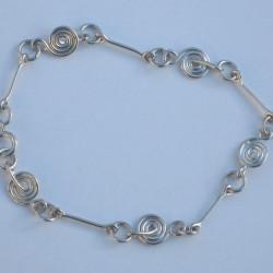 Silver Spiral & Bar Bracelet £30.00