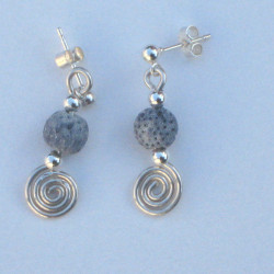 Silver Spiral, Bar & Semi-Precious Stone Earrings £15.00