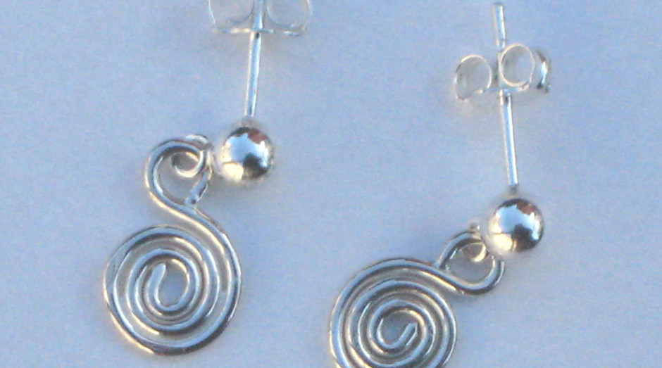 Silver Spiral French Fitting Earrings £10.00