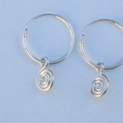 Silver Spiral Hoops Earrings £10.00