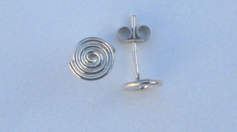 Silver Spiral Stud Earrings £10.00